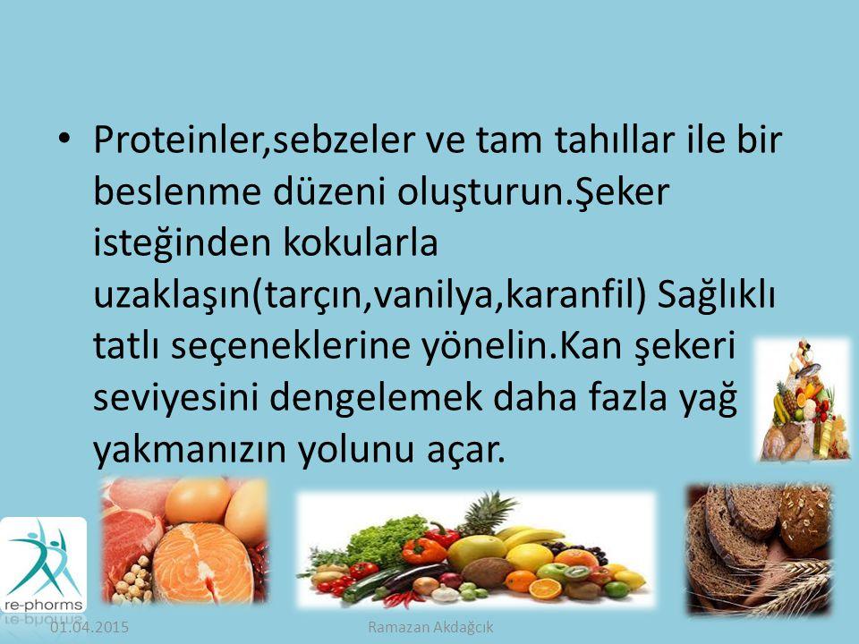Proteinler,sebzeler ve tam tahıllar ile bir beslenme düzeni oluşturun