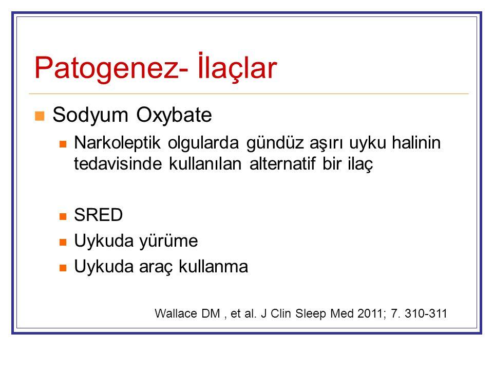Patogenez- İlaçlar Sodyum Oxybate