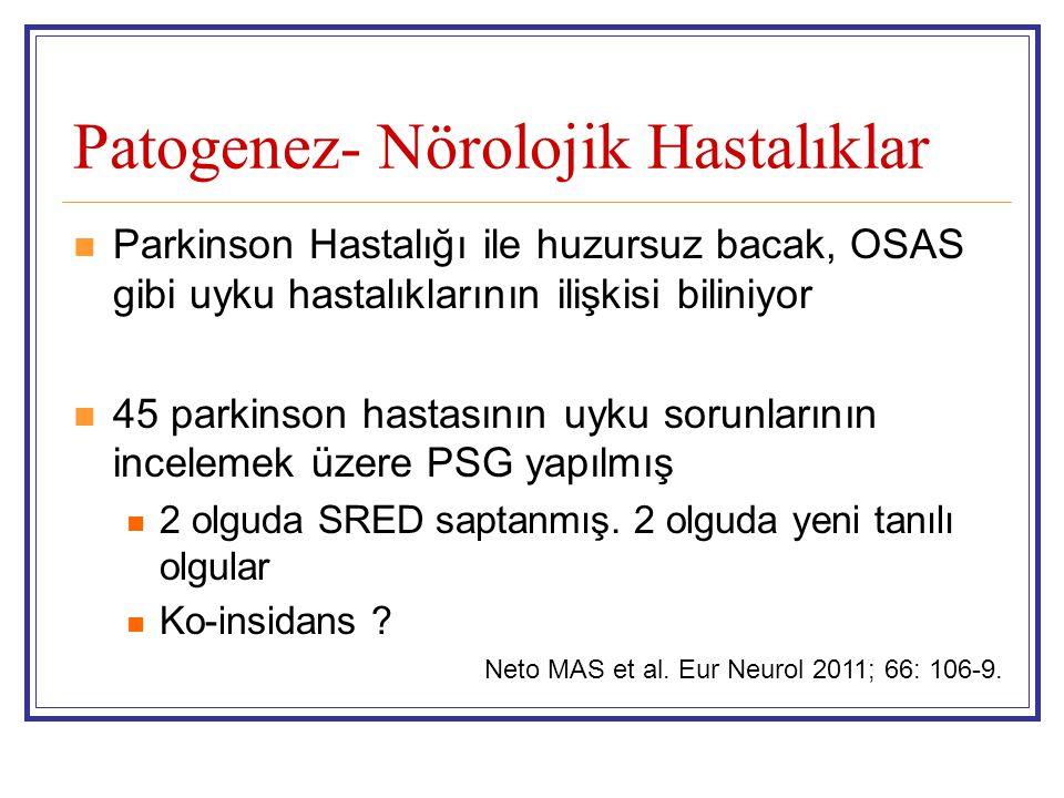 Patogenez- Nörolojik Hastalıklar