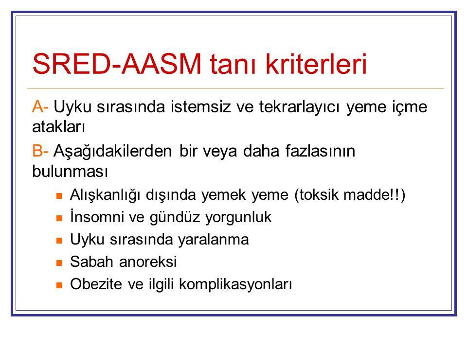 SRED-AASM tanı kriterleri