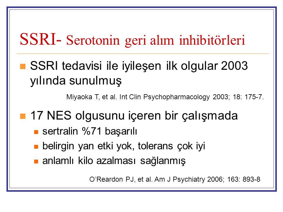 SSRI- Serotonin geri alım inhibitörleri