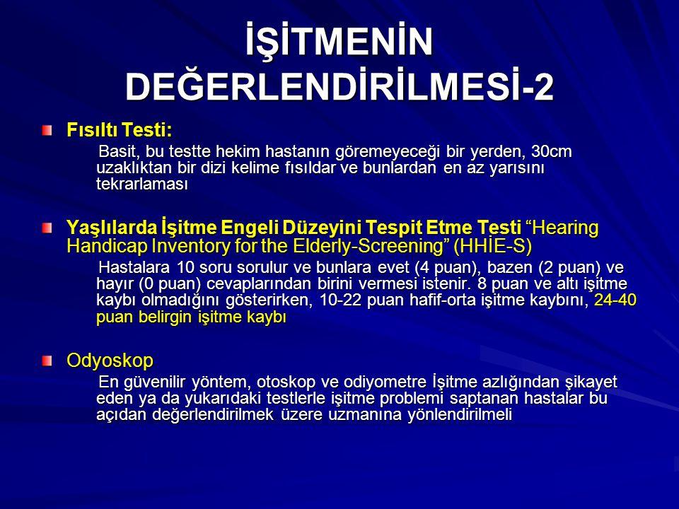İŞİTMENİN DEĞERLENDİRİLMESİ-2