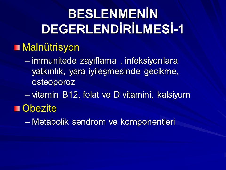 BESLENMENİN DEGERLENDİRİLMESİ-1