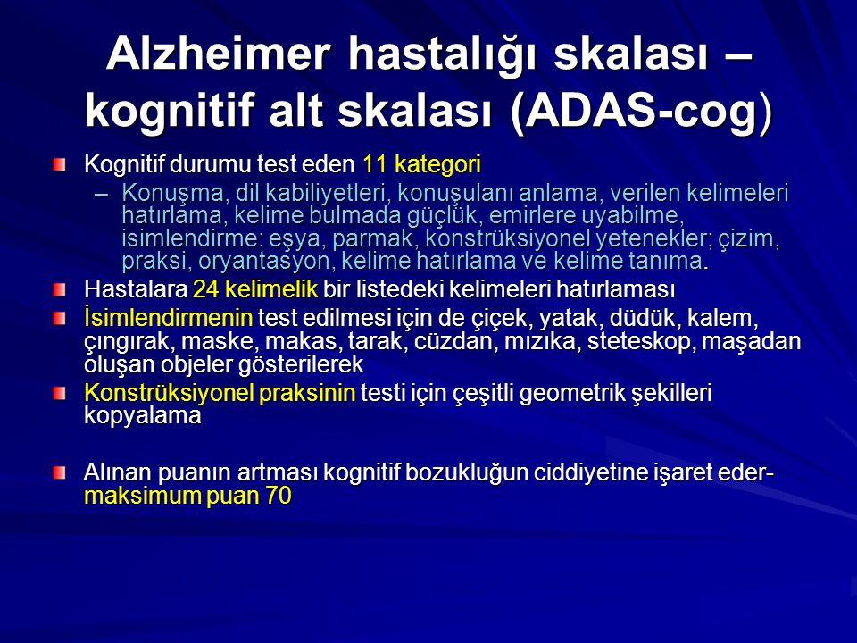Alzheimer hastalığı skalası – kognitif alt skalası (ADAS-cog)