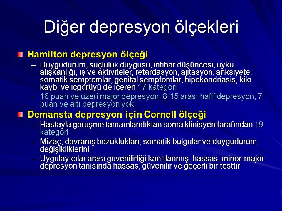 Diğer depresyon ölçekleri