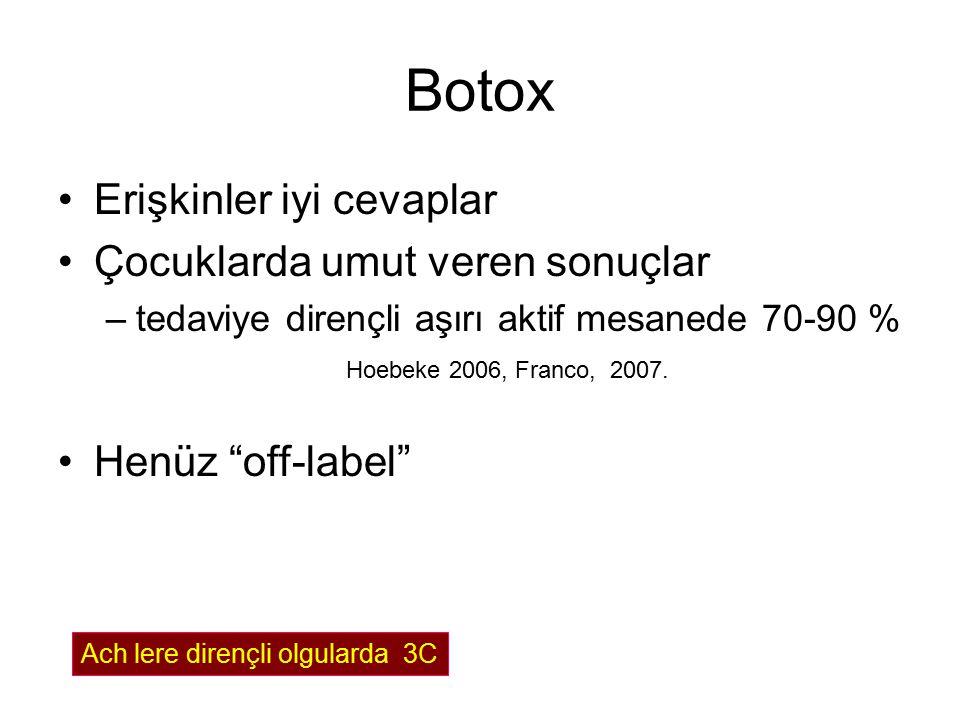 Botox Erişkinler iyi cevaplar Çocuklarda umut veren sonuçlar