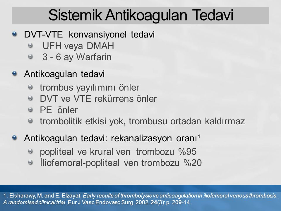 Sistemik Antikoagulan Tedavi