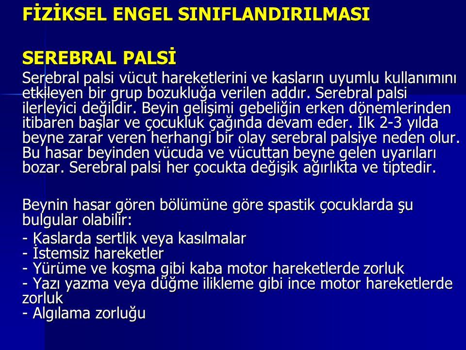 FİZİKSEL ENGEL SINIFLANDIRILMASI