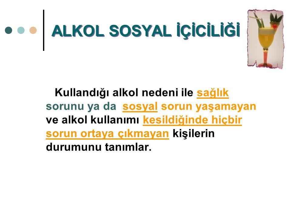 ALKOL SOSYAL İÇİCİLİĞİ