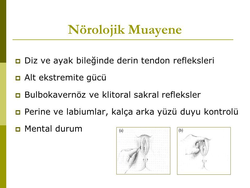 Nörolojik Muayene Diz ve ayak bileğinde derin tendon refleksleri