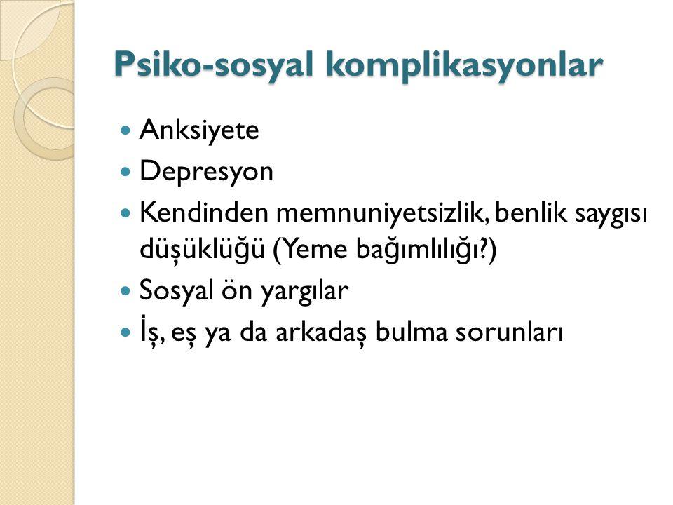Psiko-sosyal komplikasyonlar
