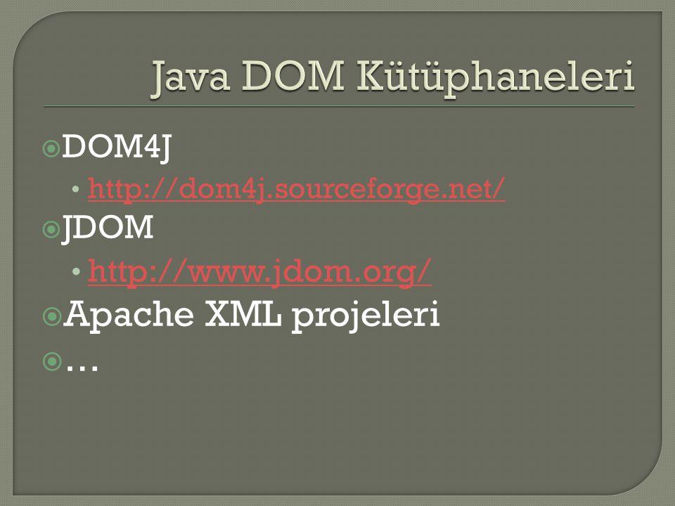 Java DOM Kütüphaneleri