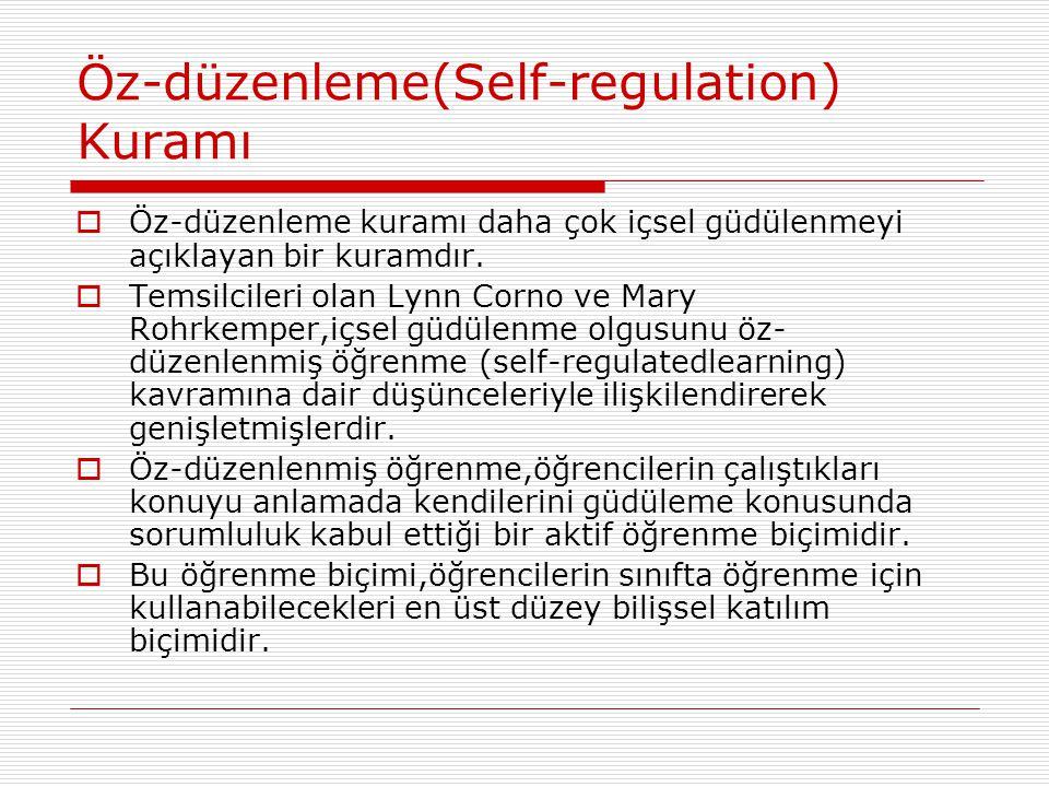 Öz-düzenleme(Self-regulation) Kuramı