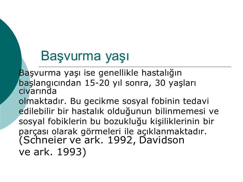 Başvurma yaşı ve ark. 1993) Başvurma yaşı ise genellikle hastalığın