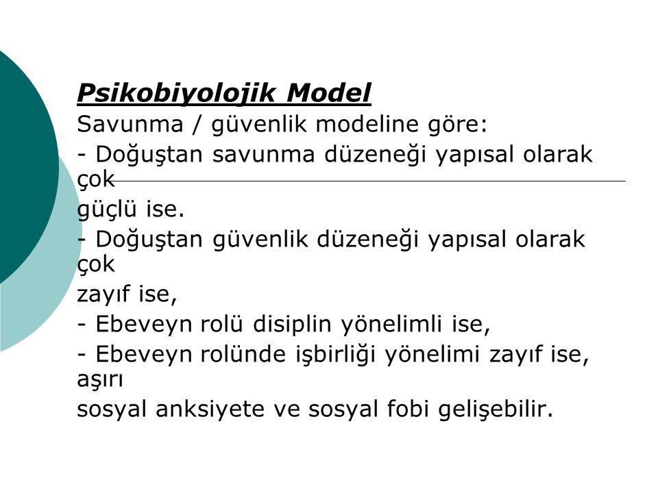 Psikobiyolojik Model Savunma / güvenlik modeline göre: