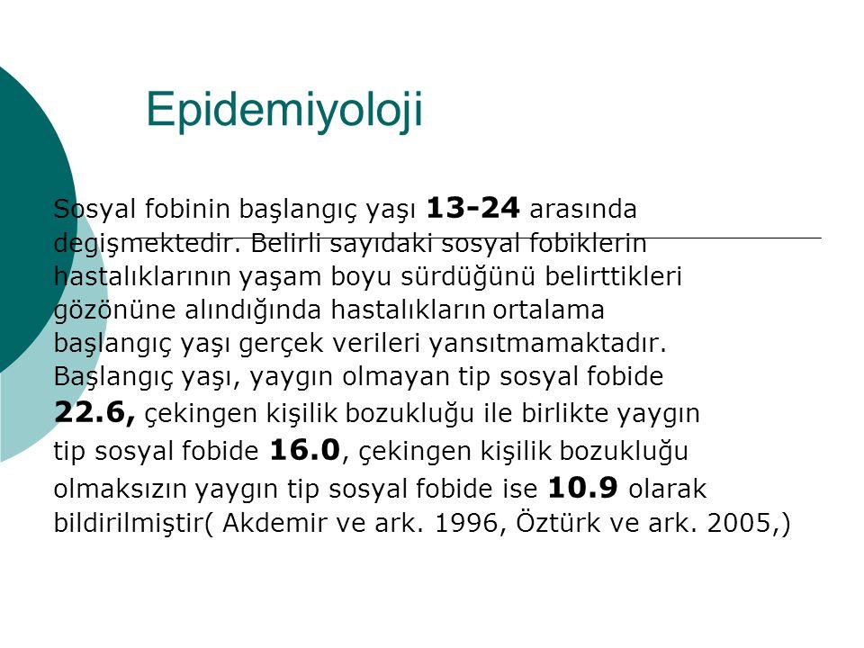 Epidemiyoloji 22.6, çekingen kişilik bozukluğu ile birlikte yaygın