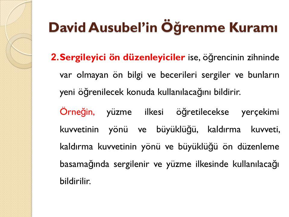 David Ausubel'in Öğrenme Kuramı