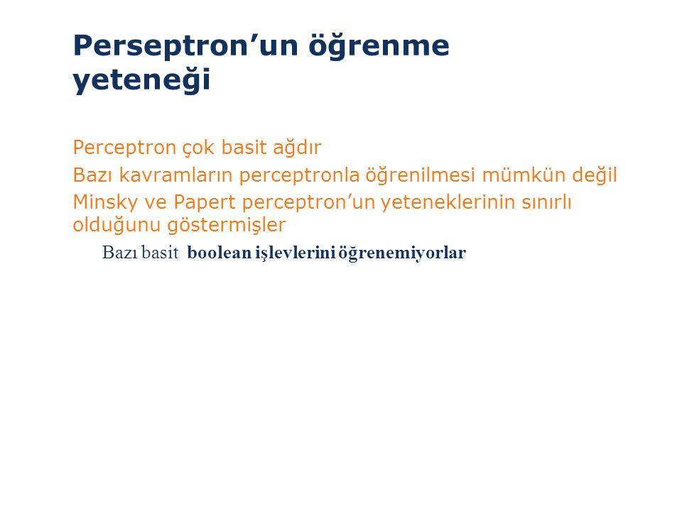 Perseptron'un öğrenme yeteneği