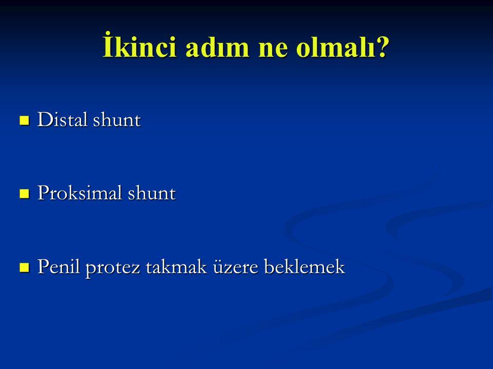İkinci adım ne olmalı Distal shunt Proksimal shunt