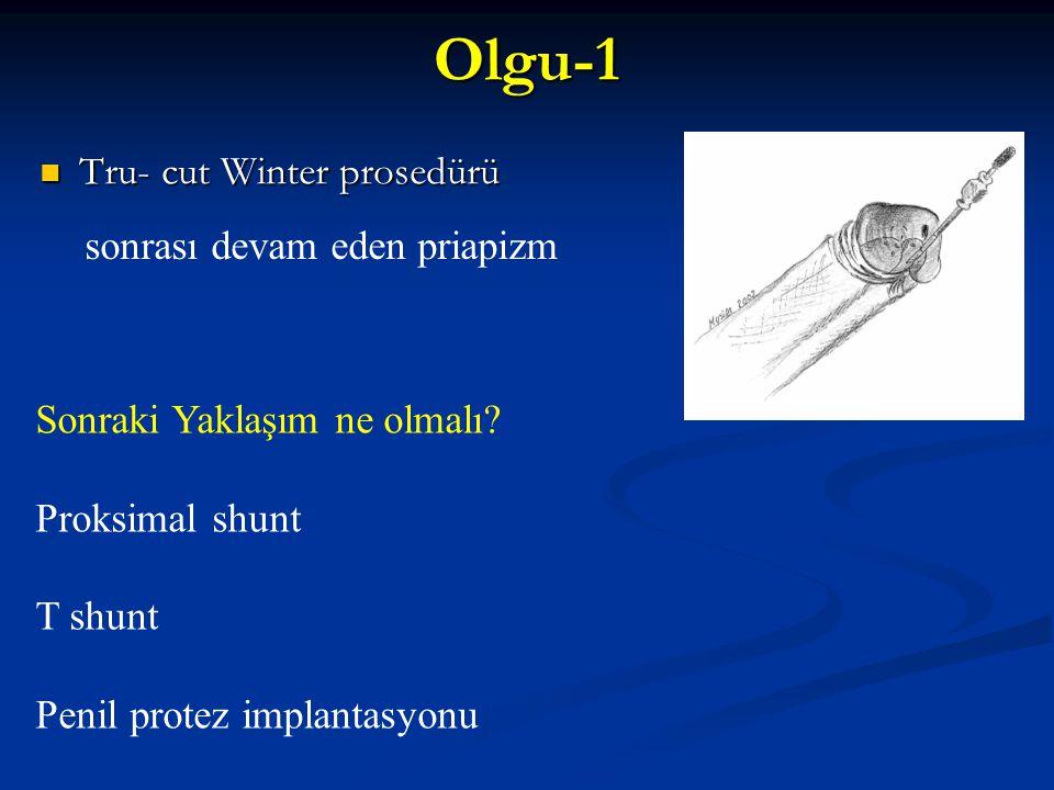 Olgu-1 Tru- cut Winter prosedürü sonrası devam eden priapizm