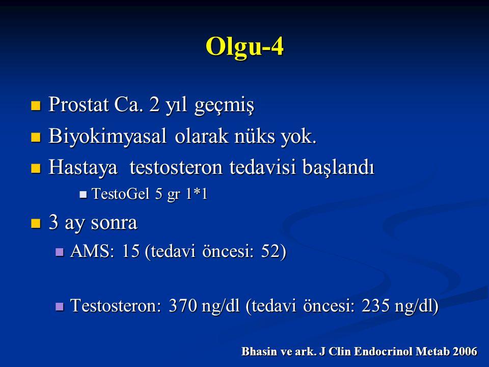 Olgu-4 Prostat Ca. 2 yıl geçmiş Biyokimyasal olarak nüks yok.