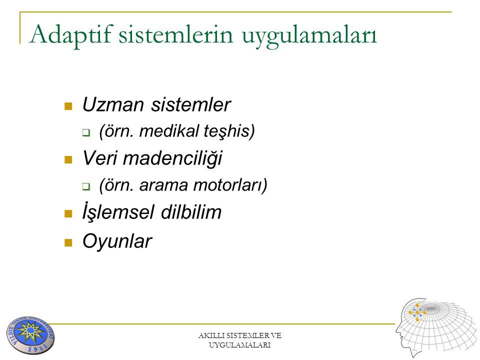 Adaptif sistemlerin uygulamaları