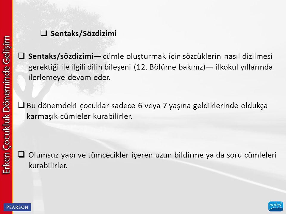 Sentaks/Sözdizimi