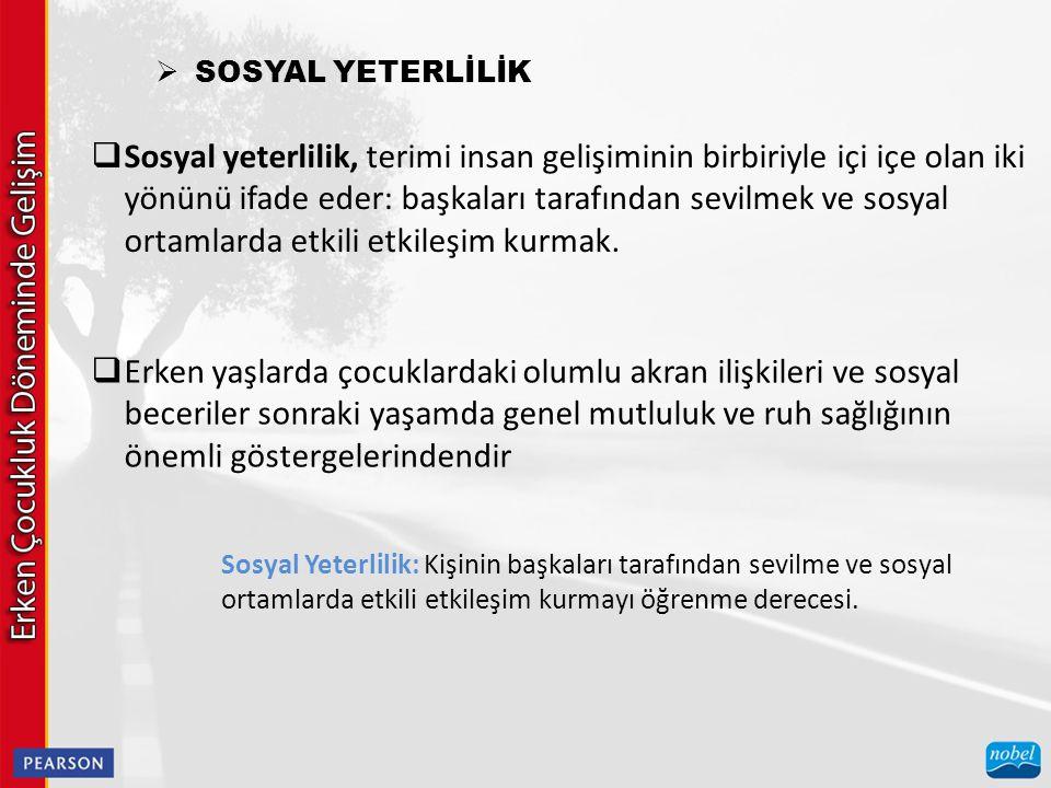 SOSYAL YETERLİLİK