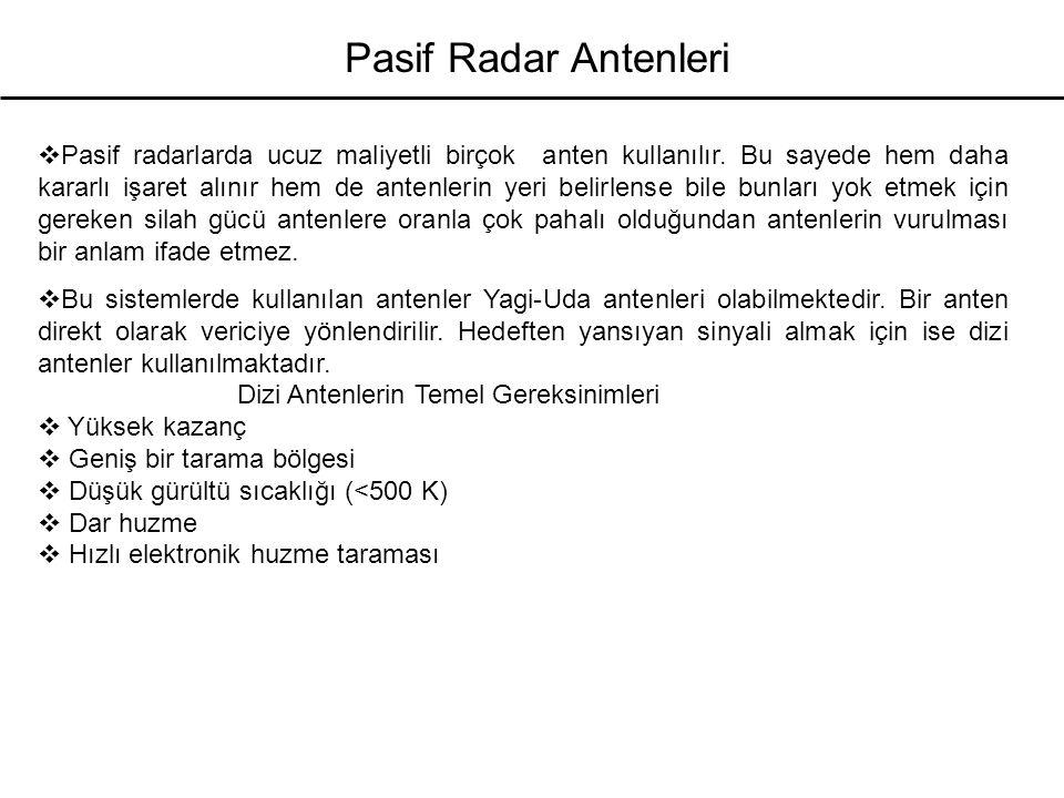 Pasif Radar Antenleri
