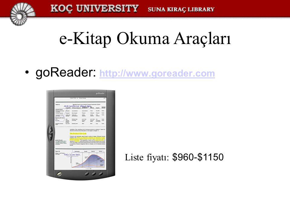 e-Kitap Okuma Araçları