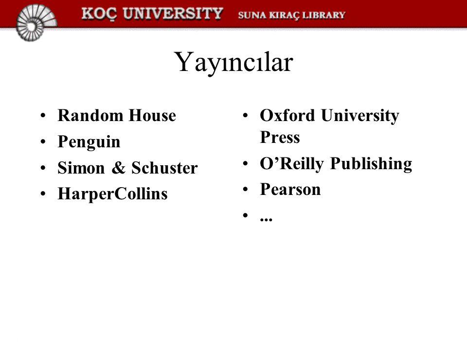 Yayıncılar Random House Penguin Simon & Schuster HarperCollins
