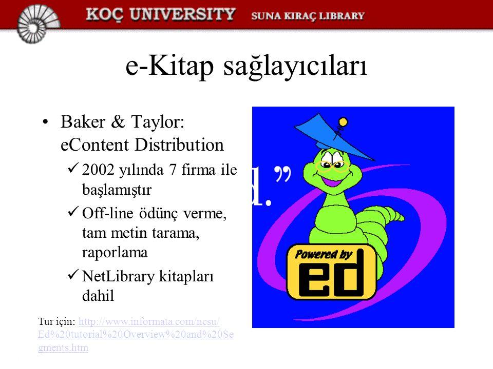 e-Kitap sağlayıcıları