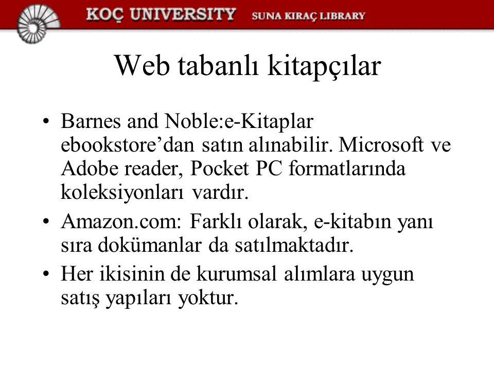 Web tabanlı kitapçılar
