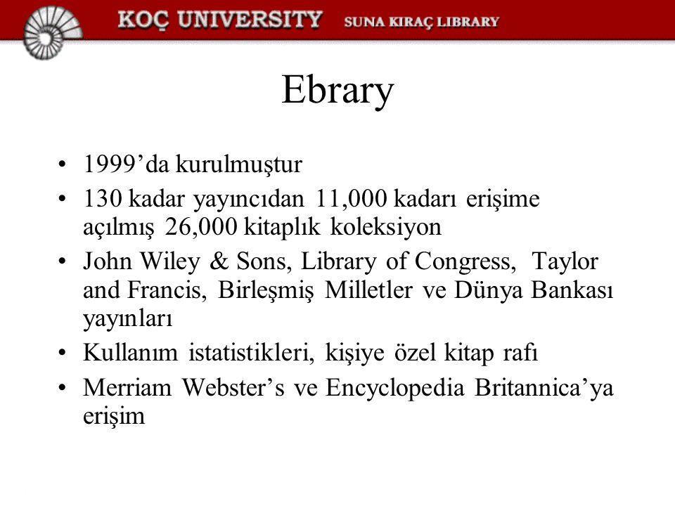 Ebrary 1999'da kurulmuştur