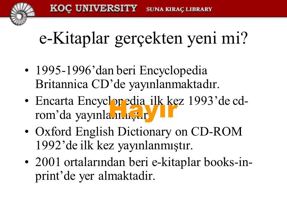 e-Kitaplar gerçekten yeni mi