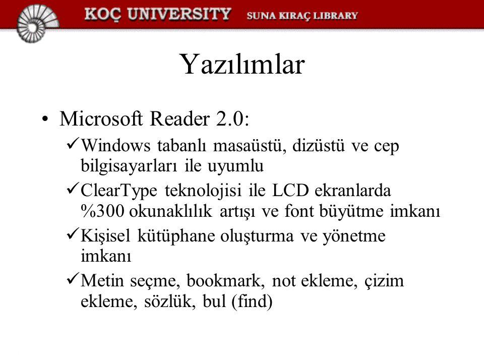 Yazılımlar Microsoft Reader 2.0: