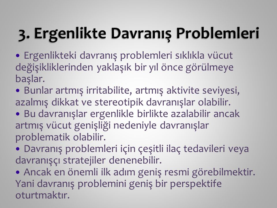 3. Ergenlikte Davranış Problemleri