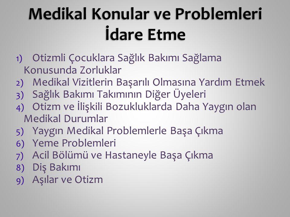 Medikal Konular ve Problemleri İdare Etme