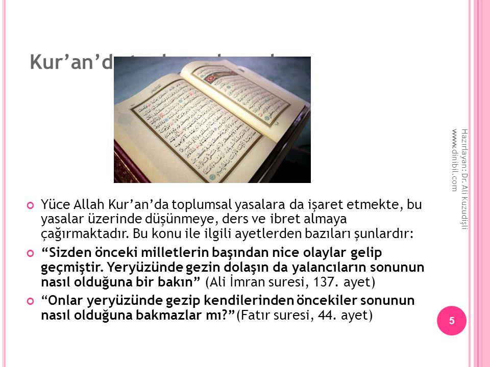 Kur'an'da toplumsal yasalar