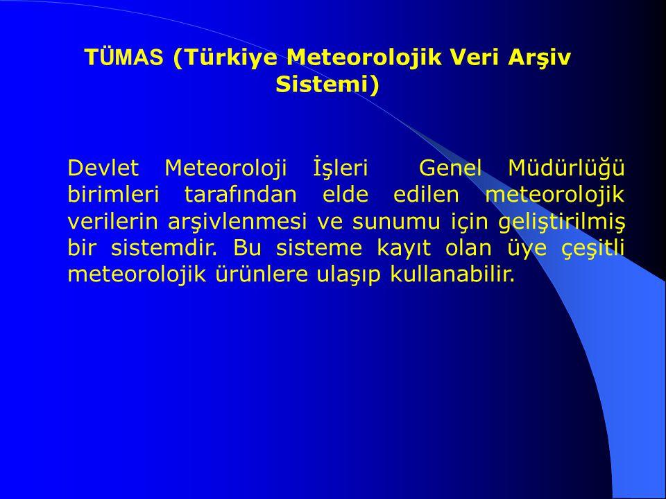TÜMAS (Türkiye Meteorolojik Veri Arşiv Sistemi)