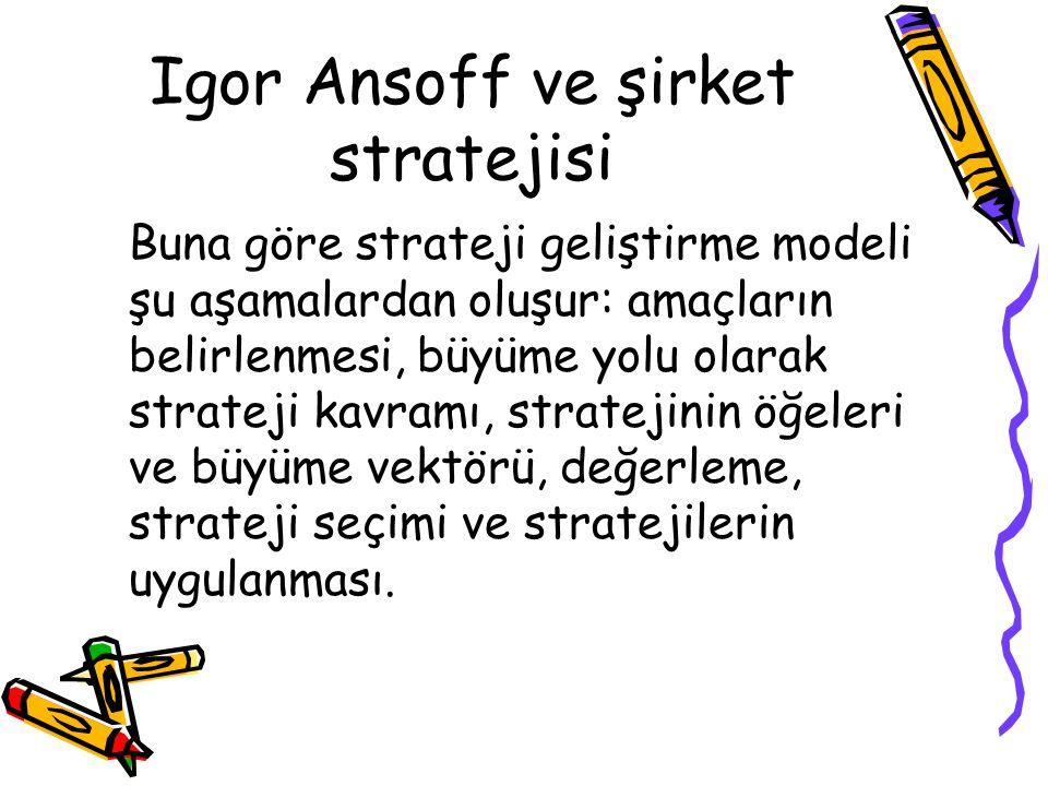Igor Ansoff ve şirket stratejisi