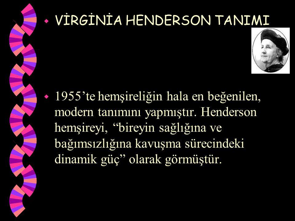 VİRGİNİA HENDERSON TANIMI