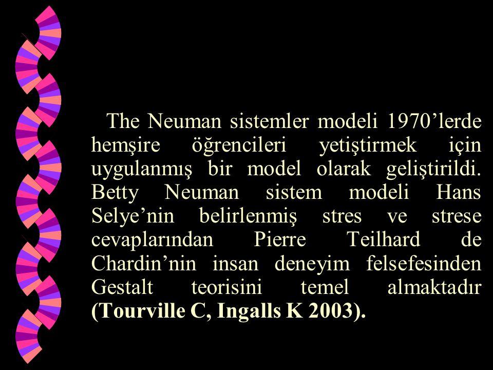 The Neuman sistemler modeli 1970'lerde hemşire öğrencileri yetiştirmek için uygulanmış bir model olarak geliştirildi.