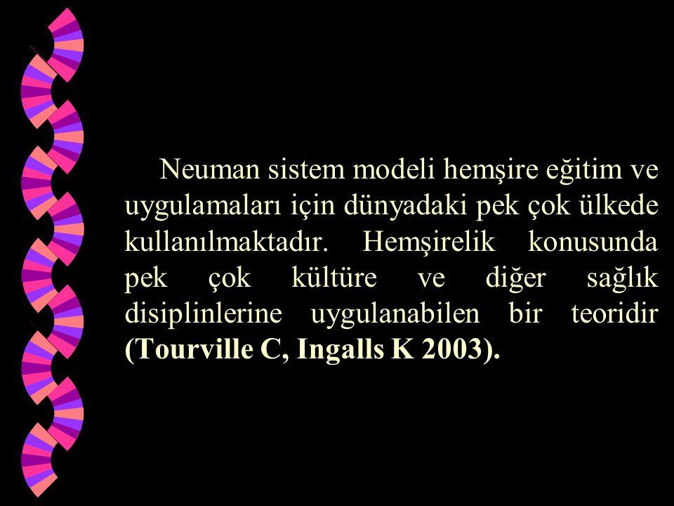 Neuman sistem modeli hemşire eğitim ve uygulamaları için dünyadaki pek çok ülkede kullanılmaktadır.