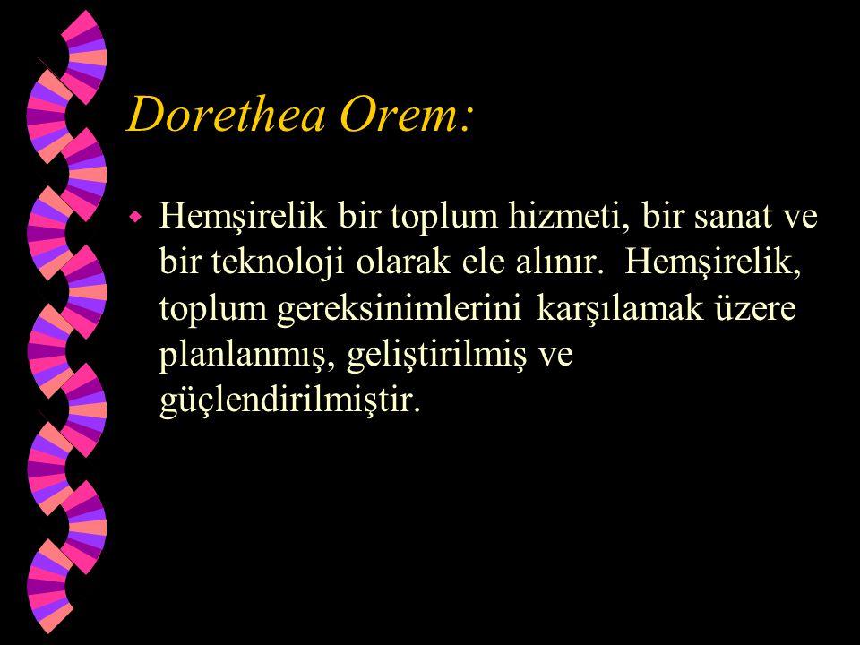 Dorethea Orem: