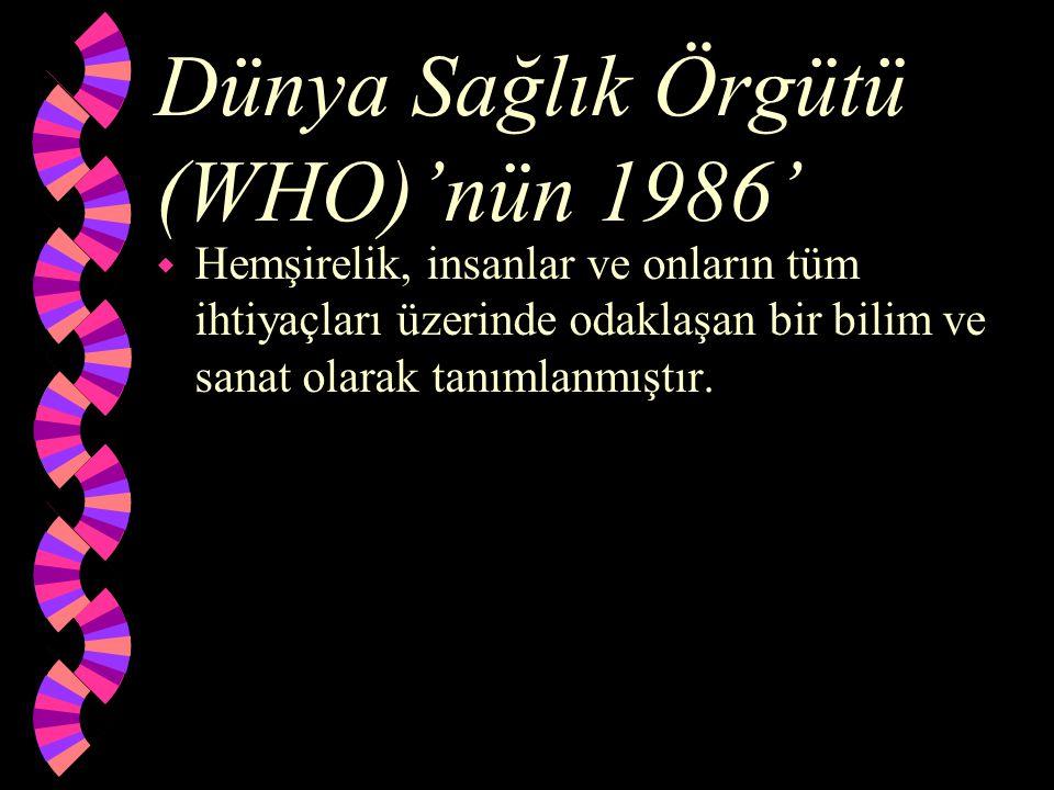 Dünya Sağlık Örgütü (WHO)'nün 1986'