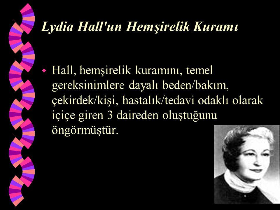 Lydia Hall un Hemşirelik Kuramı