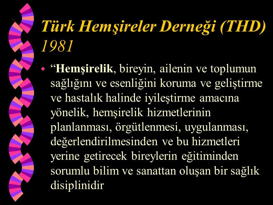 Türk Hemşireler Derneği (THD) 1981