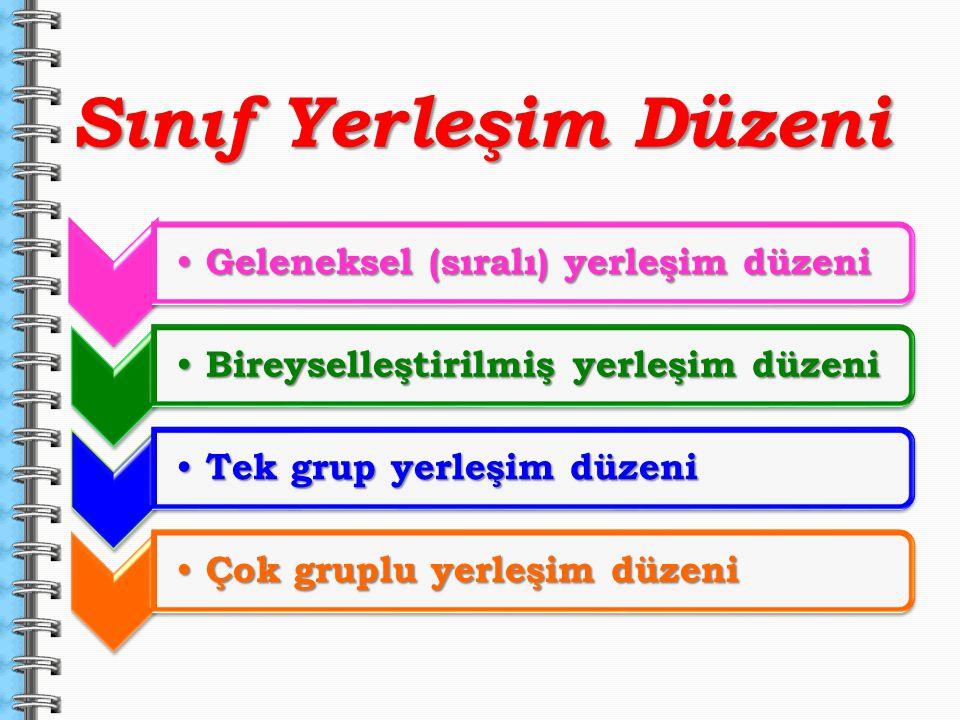 Sınıf Yerleşim Düzeni Geleneksel (sıralı) yerleşim düzeni