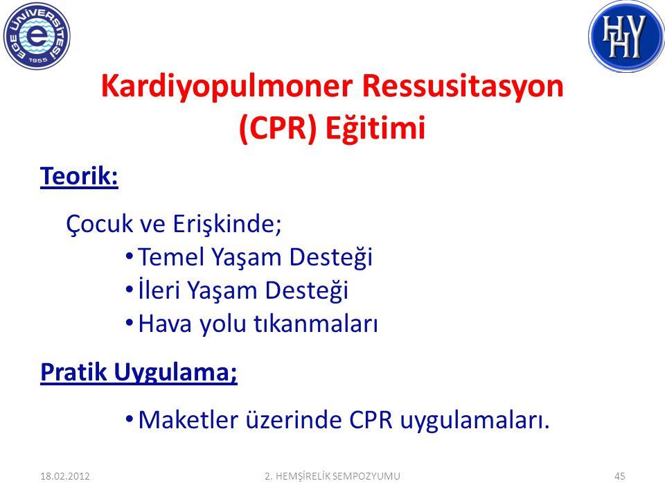 Kardiyopulmoner Ressusitasyon (CPR) Eğitimi